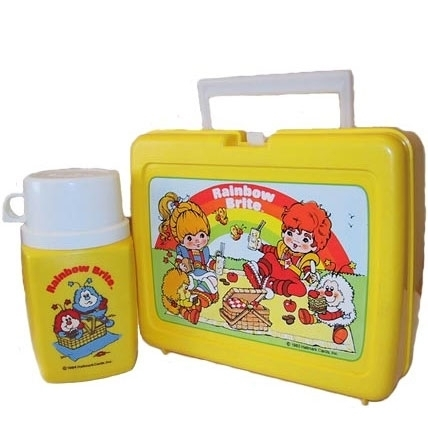 pelangi, rainbow Brite Vintage 1983 Lunch Box