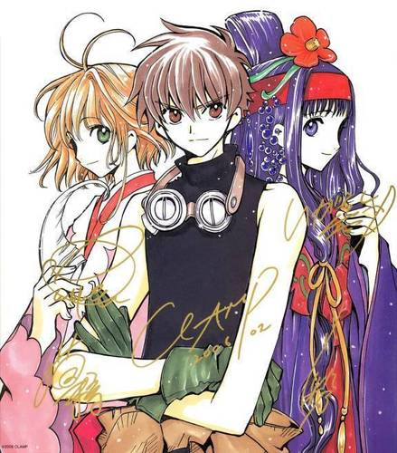 CLAMP Images Sakura, Syaoran And Tomoyo Wallpaper And