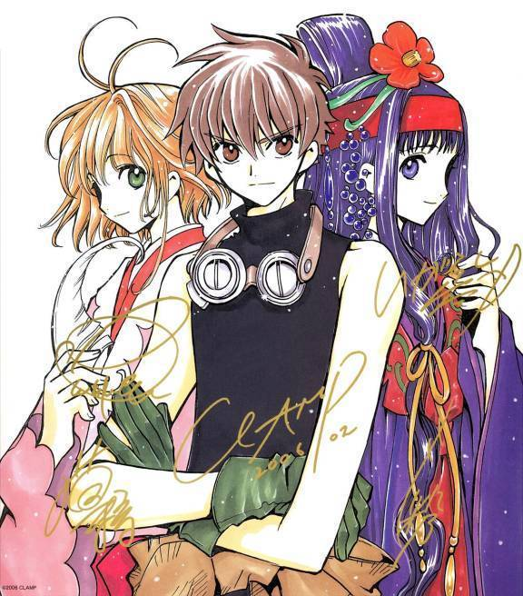 Tsubasa Reservoir Chronicle I Will Save You: CLAMP Images Sakura, Syaoran And Tomoyo Wallpaper And
