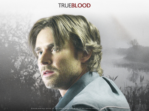 True Blood fond d'écran probably containing a fontaine and a portrait titled Sam