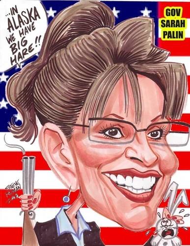 Sarah Palin Caricature www.aaacaricatures.com