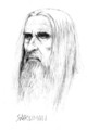 Saruman drawing - christopher-lee fan art