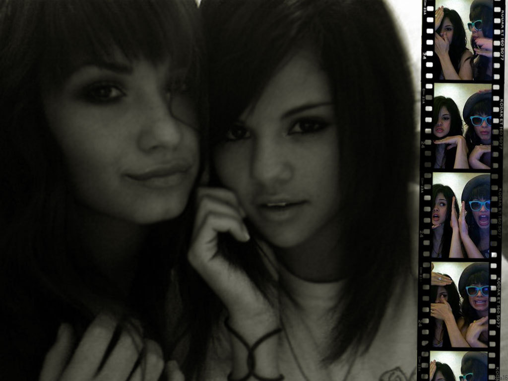 Selena and Demi Wallpaper