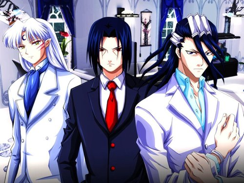 Sesshoumaru, Itachi and Byakuya