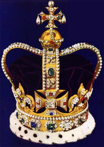 Kings and Queens achtergrond called St. Edward's Crown