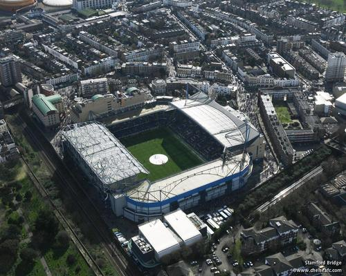 चेल्सी एफ सी वॉलपेपर containing a business district entitled Stamford Bridge
