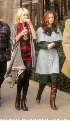 Taylor and Leighton filming GG