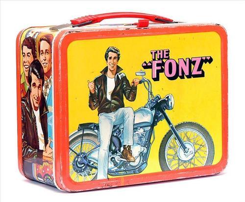 Lunch Boxes karatasi la kupamba ukuta called The Fonz Vintage 1976 Lunch Box