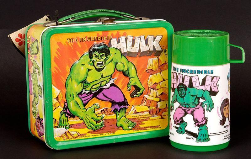 The Incredible Hulk Vintage 1978 Lunch Box