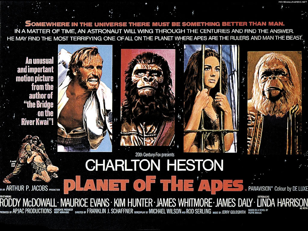 Planet of Apes Movie Poster Planet of The Apes Movie