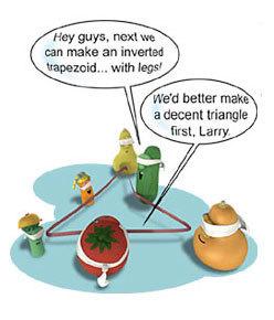 Veggies playing a game