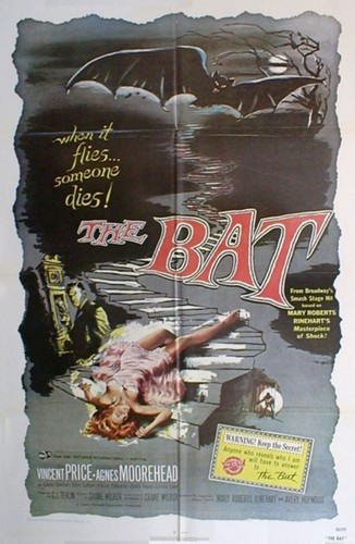 Vintage 1959 poster of The Bat