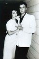 Wanda Jackson with Elvis Presley - rocknroll-remembered photo