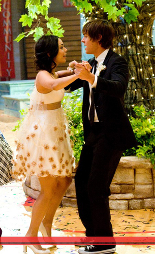 Zac Efron & Vanessa Hudgens wallpaper with a business suit called Zanessa in HSM 3 Candids