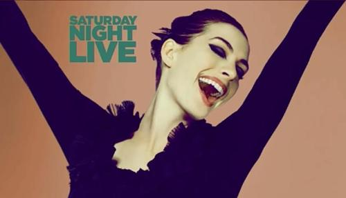 Saturday Night Live wallpaper possibly with a leotard, tights, and a portrait entitled anne hathaway