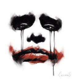 The Joker kertas dinding titled joker cry