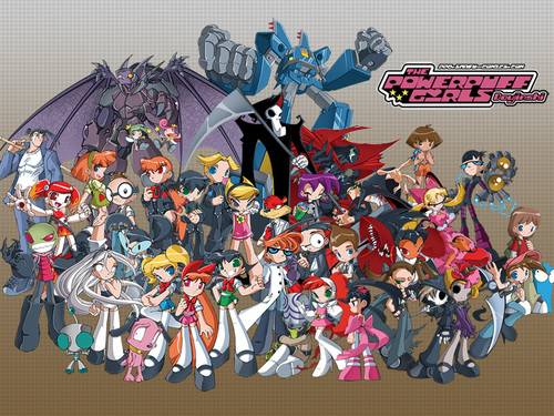 Powerpuff Girls wallpaper probably containing anime entitled power puff girls d