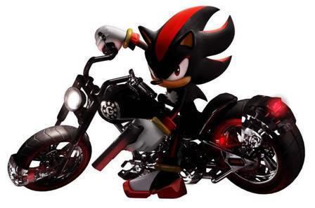 shadow on his cool bike