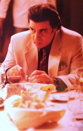 The Sopranos wallpaper possibly containing a dinner table and a brasserie titled silvio dante
