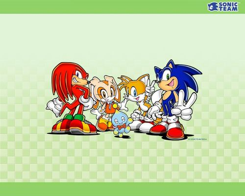 sonic and friends - sonic-characters Wallpaper