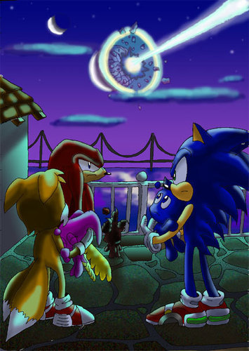 sonic and 老友记 with chao