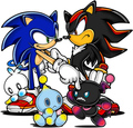 sonic and shadow with chaos - sonic-chao photo