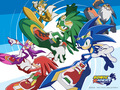 sonic riders - sonic-characters wallpaper
