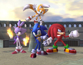 sonic,tails.knuckles and blaze - sonic-characters screencap