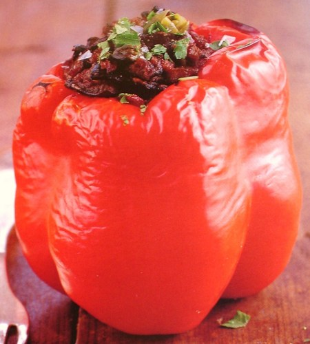 stuffed RED glocke pepper
