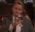 Barney having dinner with Robin - barney-stinson photo