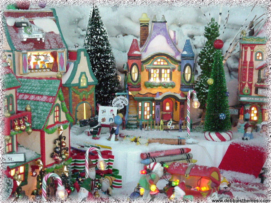 old fashion christmas wallpaper free-#38