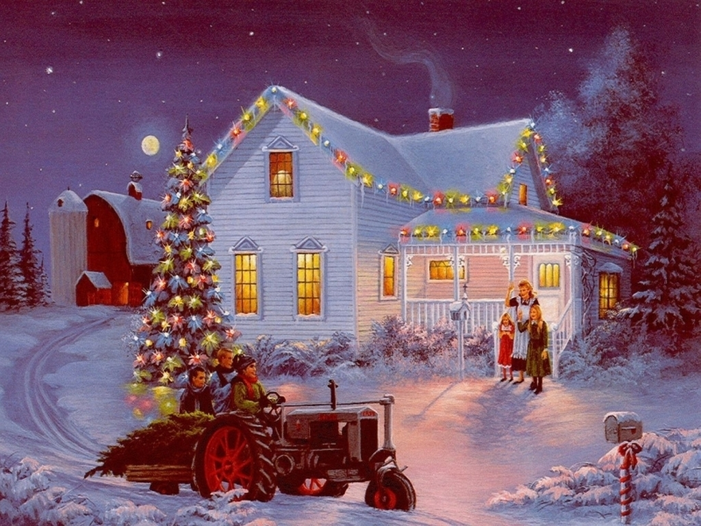 old fashion christmas wallpaper free - photo #32