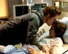 Edward kissing Bella