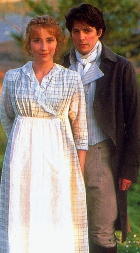 Sense and Sensibility fond d'écran probably with a kirtle, rapporté called Elinor and Edward