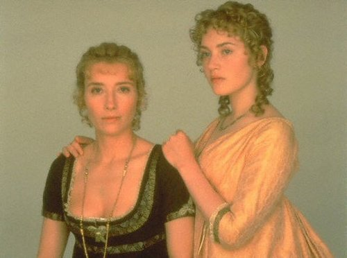 Sense and Sensibility fond d'écran possibly with a kirtle, a cocktail dress, and a surcoat, surcot called Elinor and Marianne