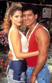 Elizabeth Berkley and Mario Lopez