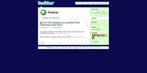 Fanpop's Twitter