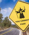 Gandalf road sign