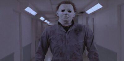 Michael Myers wolpeyper possibly with a workwear called Halloween