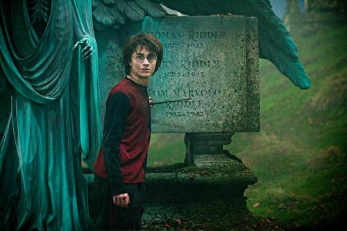Harry in the graveyard