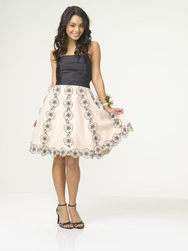 High School Musical wallpaper probably containing a gathered skirt and a hoopskirt entitled High School Musical 3 - Vanessa Hudgens