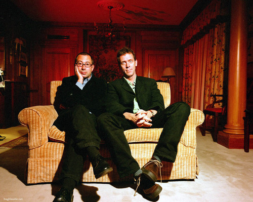 Hugh with Ben Elton © Rob Hann RetnaUK - 2002