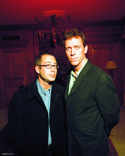 Hugh with Ben Elton © Rob Hann RetnaUK - 2002