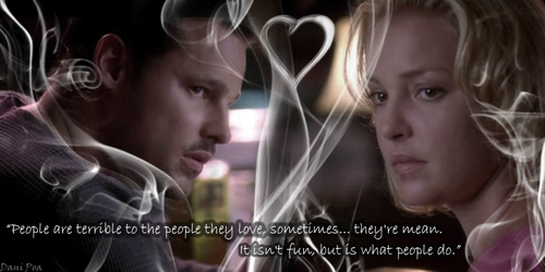 Grey's Anatomy wallpaper probably with a portrait titled Izzie quote - S5E04
