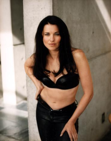 Lucy Lawless wallpaper probably containing attractiveness, a lingerie, and a brassiere titled Maxime