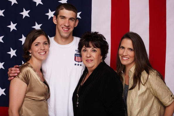 Family photo of the swimmer, engaged to Nicole Johnson, famous for American Olympic Swimmer Gold Medalist.