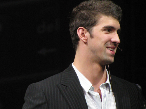Michael Phelps پیپر وال with a business suit entitled Michael