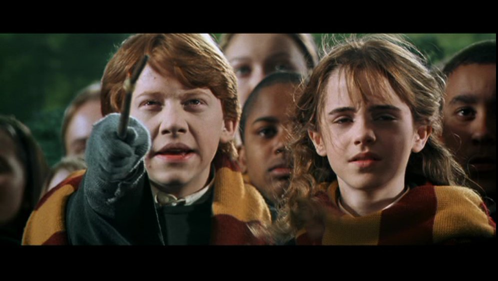 Ron & Hermione Screencaps [Chamber of Secrets]