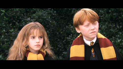 romione wallpaper possibly containing a portrait titled Ron & Hermione Screencaps [Harry Potter and the Sorcerer's Stone]