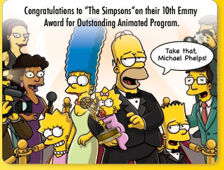 Simpsons with an Emmy